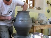 Giorgios demonstrating. He's added a top part to the big pot.
