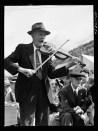 Jack Delano: Fiddler (Mr. Ed. Larkin) for the square dances at the World's Fair at Tunbridge, Vermont. 1941.