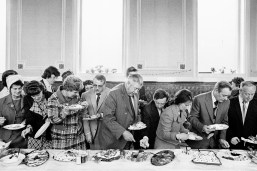 GB. England. West Yorkshire. Todmorden. Mayor of Todmorden's inaugural banquet. 1977.