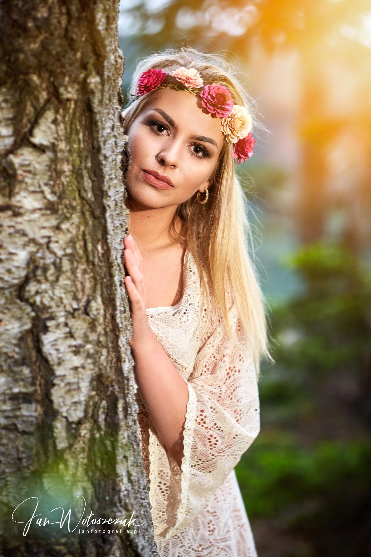 Zdjęcia portretowe z modelką Anitą w Kudowie Zdroju