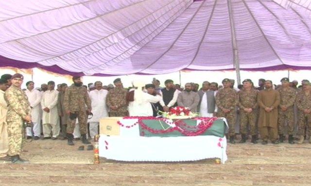 کرنل سہیل عابد شہید فوجی اعزاز کیساتھ آبائی علاقے میں سپرد خاک