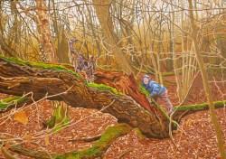 'Jan And Stig' (2011) oil on canvas, 70x100x2cm