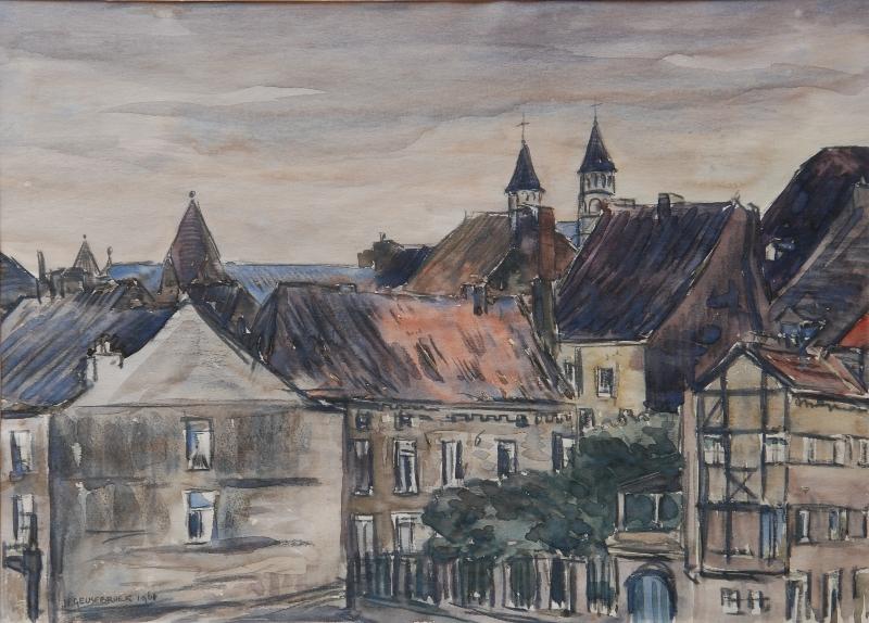 Stokstraatkwartier 1961 door Jan Geusebroek (156)