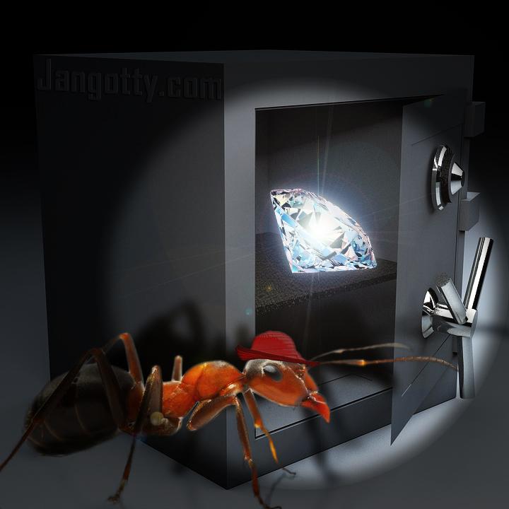 Hormiga Fue Sorprendida Tratando de Robar un Diamante