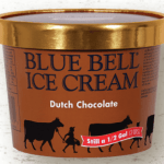 Half gallon of Bluebell Dutch chocolate ice cream