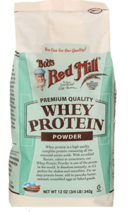 Bag of whey protein from Bob's Red Mill
