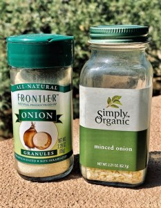 Onion powder is a good substitute for raw onions
