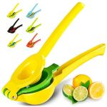 Manual lemon squeezer with lime insert
