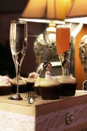 Flutes and cupcakes