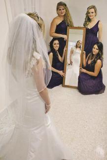 Jennifer looking in mirror