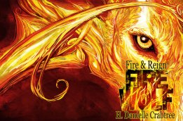 Book cover for Fire Wolf by H. Danielle Crabtree.