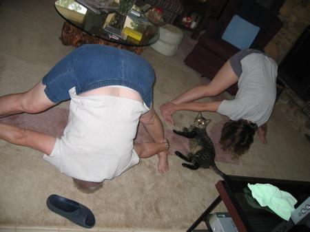 Mom & Elise doing Hatha Yoga