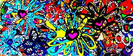 Flower Love Acrylic on canvas 12.25x5.25 2015 ©Janice Rafael