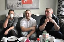 Carina, David och Freddy