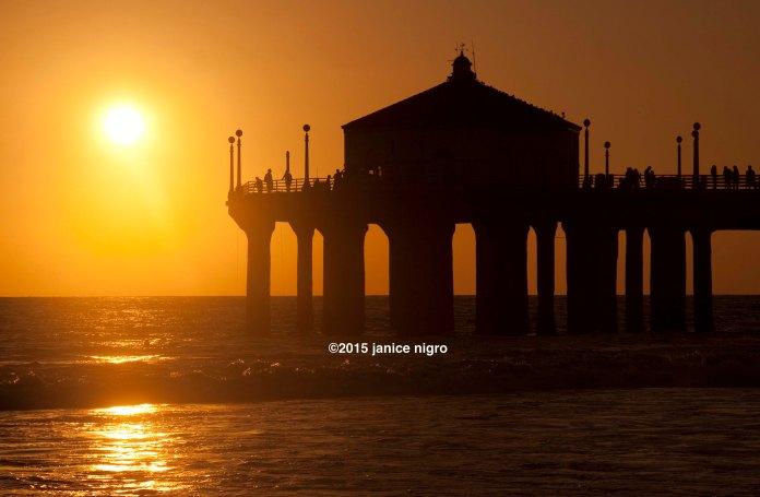 hermosa beach sunset 3815 copyright