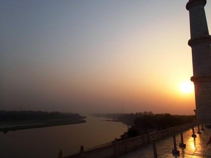The river Yamuna from the Taj Mahal