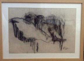"""""""Human Landscape"""" (chalk 2013) £150 framed"""