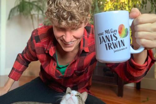 A thank you mug from Janis Irwin
