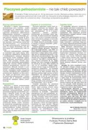 """Artykuł """"Pieczywo pełnoziarniste - nie taki chleb powszedni"""" dla AGRO"""
