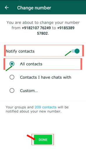 Notify Contacts