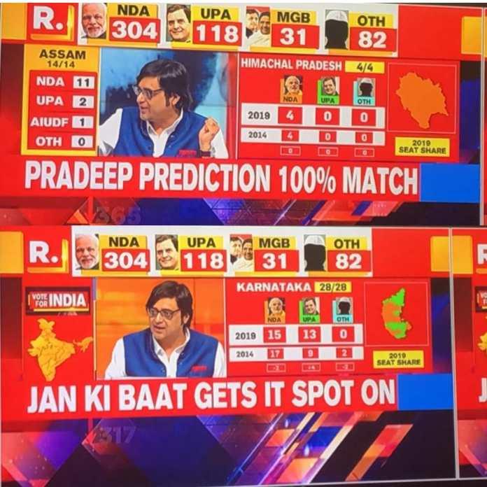 jan ki baat exit poll 2019
