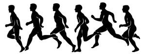 走る人のシルエット