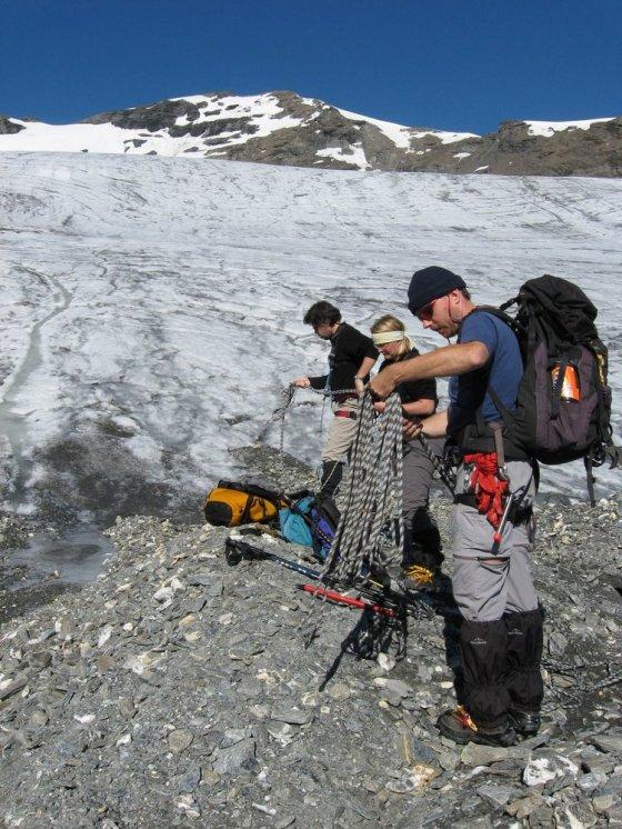 Na skraju Glacier de La Luette.