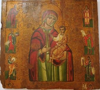 Nasz cel: muzeum ikon. Bogórodzica Hodigitria, 1580r. Wskazująca drogę, zawsze z Dzieciątkiem, chyba najstarszy i najbardziej rozpowszechniony sposób przedstawienia Matki Bożej w sztuce pisania ikon.