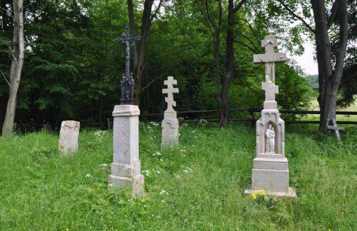 Jak po wszystkich wysiedlonych lub zrównanych z ziemią łemkowskich wsiach, został tylko zarośnięty cmetarz...