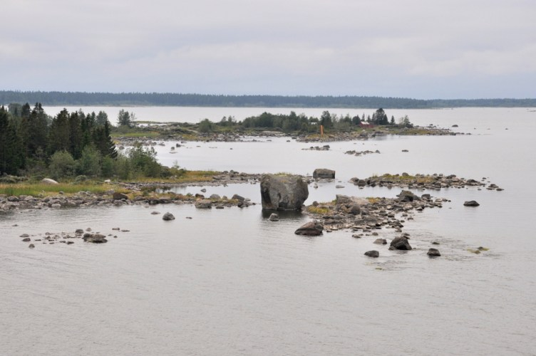 Pierwszy kontakt z ziemią fińską - Archipelag koło Vaasy.
