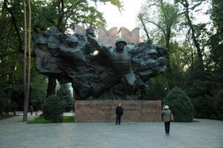 Pomnik sławiący czyny dywizji Iwana Panfiłowa podczas II wojny światowej.