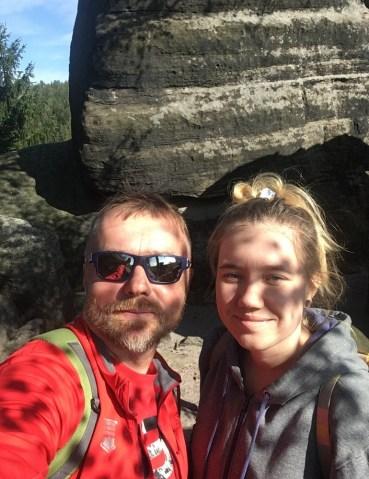 Przenieśliśmy się na Czechy. Tamtejsze Stołowe i grupa skalna Ostaš (700 m).