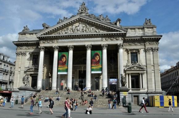La Bourse de Bruxelles - budynek brukselskiej giełdy papierów wartościowych..