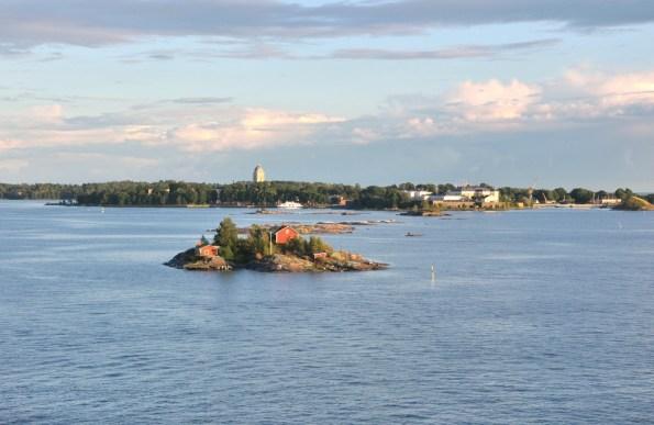 Wypływamy z Helsinek.