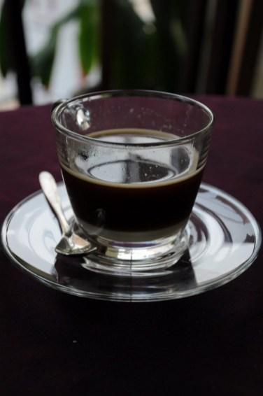 Hot Lao coffee.