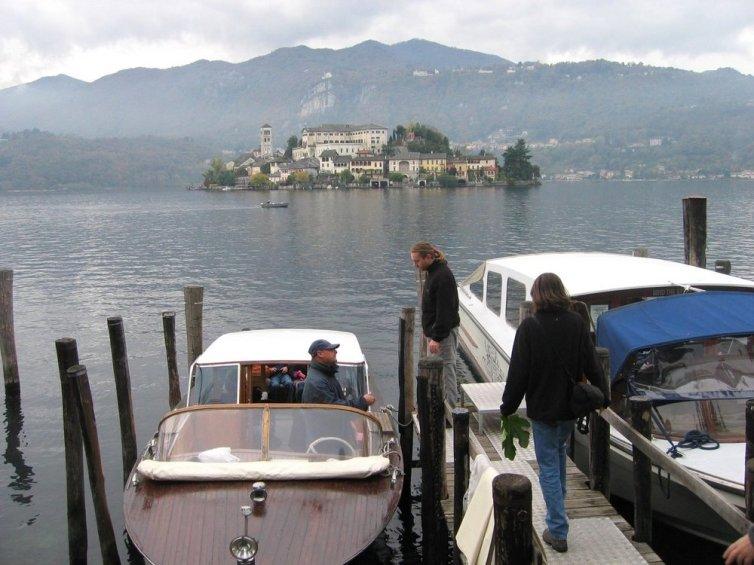 Lago d'Orta i Isola Sant Gulio d'Orta.