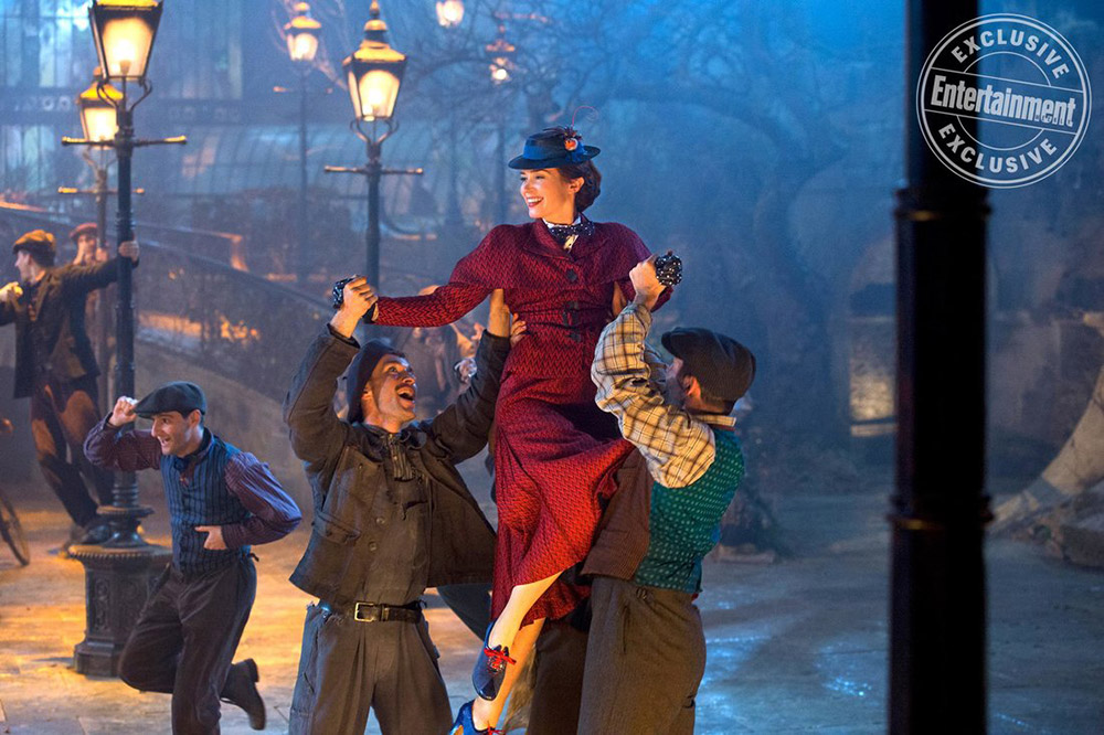 Emily Blunt as Mary Poppins, courtesy of Entertainment Weekly