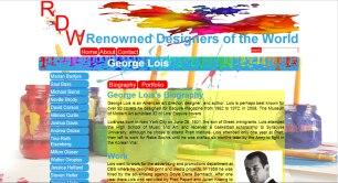 George Lois Kids Design Biography