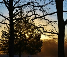 A hazy December sunrise and another year closing.