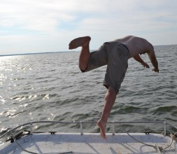 Leap lamely from the bow