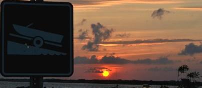 Sunset at ramp