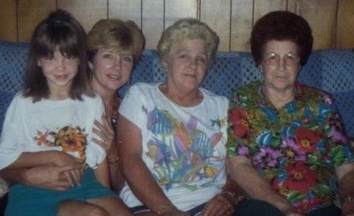 Four generations of women.