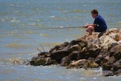 Boy on jetty