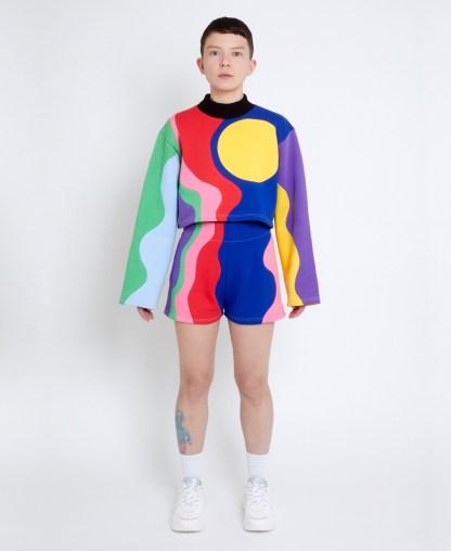 Gay Pride Sweatshirt in patchwork