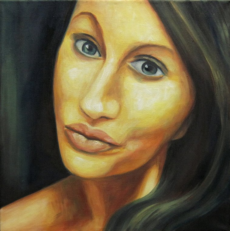 Lucy 002, Portrait Kunst, Malerei Ölgemälde Painting