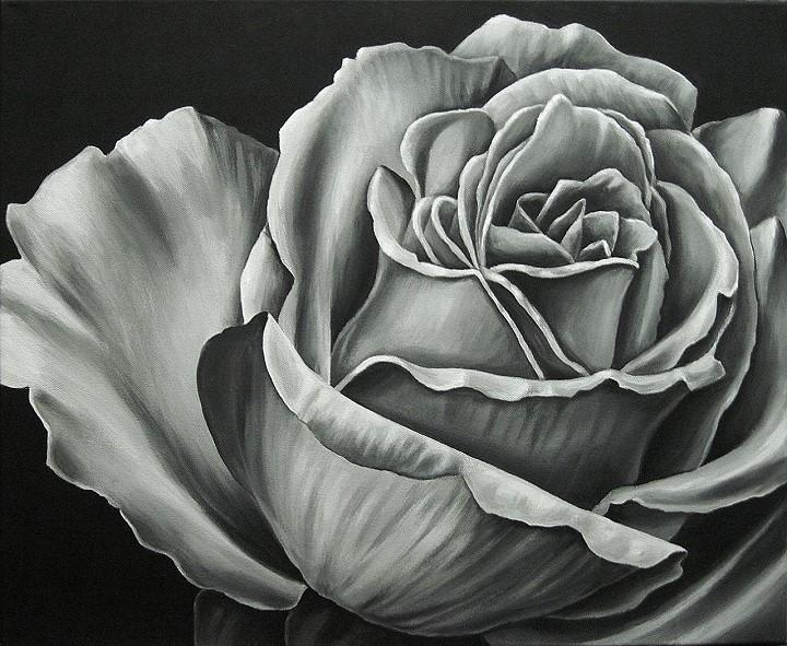 Rose acryl Malerei Kunst Gemälde Painting