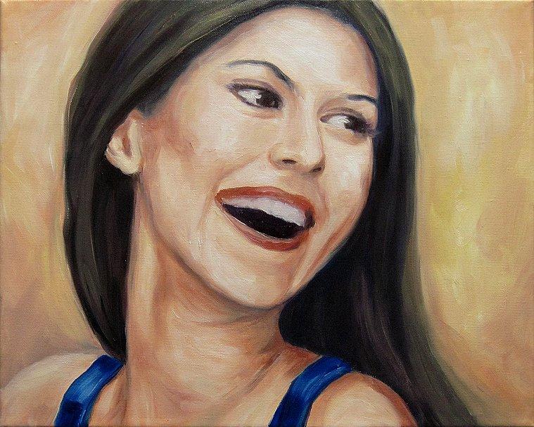Portrait Karo Kunst Malerei Ölbild Painting