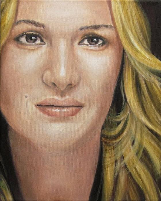 Kate Winslet Portrait Kunst Malerei Ölgemälde Painting
