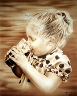 Airbrush Portrait, Kunst, Malerei Gemälde Painting