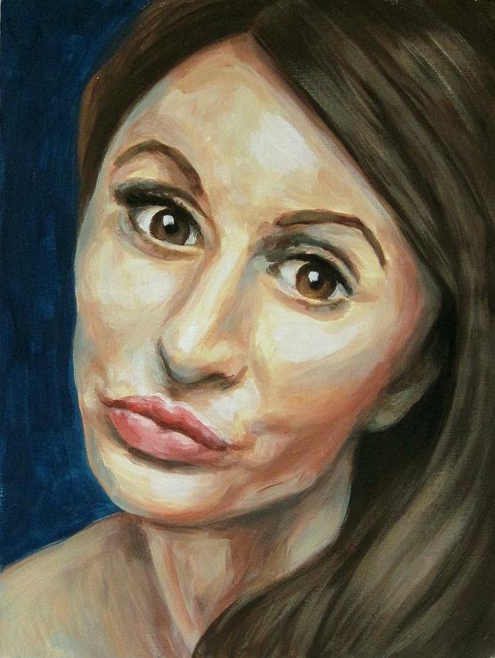 Lucy Portrait Kunst Gemälde Painting modern